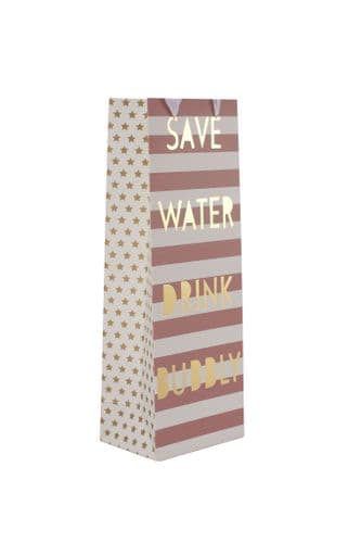 Save Water Bottle Bag