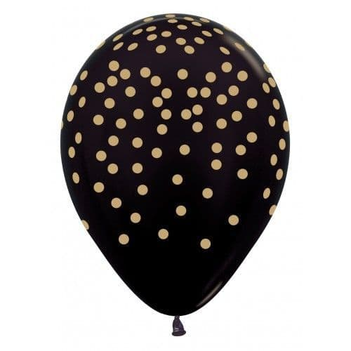 SEMPERTEX CONFETTI GOLD ON BLACK 11""