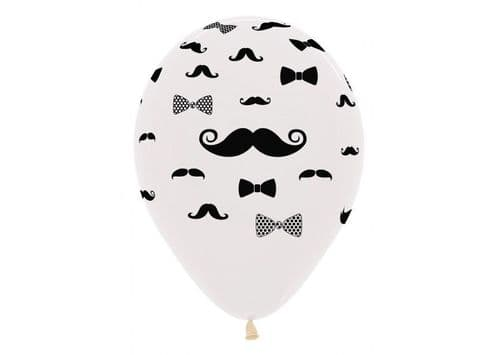 SEMPERTEX MOUSTACHE AND BOW TIE 12""