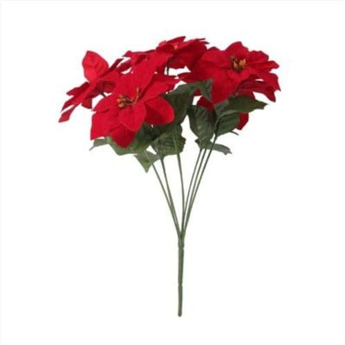 Small Poinsettia Bush x7 (15 inch)