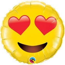 """SMILEY FACE WITH HEART EYES 31"""" SHAPE GROUP B PKT"""