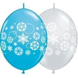 """SNOWFLAKES & CIRCLES QUICK LINK 12"""" ROBIN'S & D/CLEAR (50CT)"""