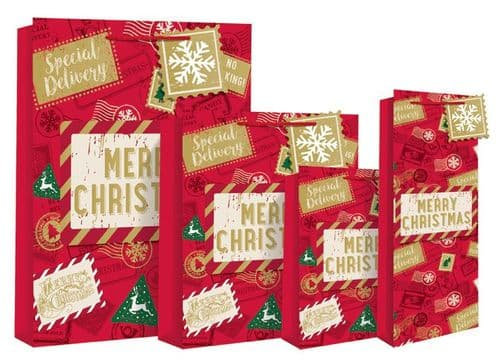 Special Delivery Merry Christmas Gift Bag (Bottle Bag)