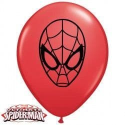 """SPIDER MAN ULTIMATE FACE 5"""" RED (100CT)"""