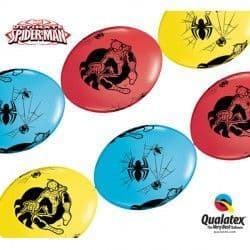 """SPIDER MAN ULTIMATE QUICK LINK 12"""" RED, YELLOW & ROBIN'S EGG BLUE (50CT)"""
