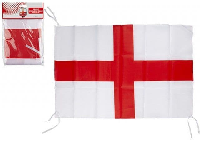 ST GEORGE RAYON FLAG WITH STRING 76 X 50CM