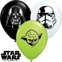 """STAR WARS FACES 5"""" WHITE, ONYX BLACK & LIME GREEN (100CT)"""