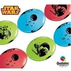 """STAR WARS QUICK LINK 12"""" RED, LIME GREEN & ROBIN'S EGG BLUE (50CT)"""