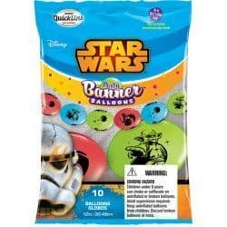 """STAR WARS QUICK LINK PARTY BANNERS 12"""" (10CT)"""