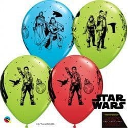 """STAR WARS THE LAST JEDI 11"""" RED, ROBINS & LIME (25CT)"""