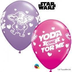 """STAR WARS YODA ONE FOR ME 11"""" WILD BERRY & SPRING LILAC (25CT)"""