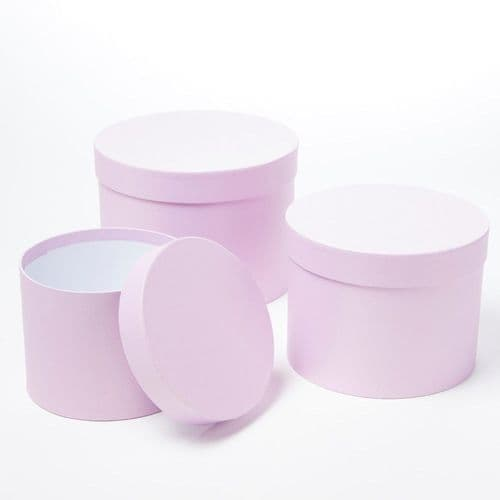 Symphony Hat Boxes (Lined) - Set of 3 (lilac)