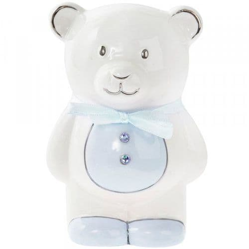Teddy Money Bank Blue gift