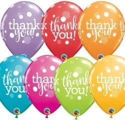 """THANK YOU DOTS UPON DOTS 11"""" FESTIVE ASSORTED (25CT)"""