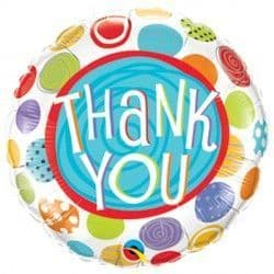 """THANK YOU PATTERNED DOTS 18"""" PKT"""