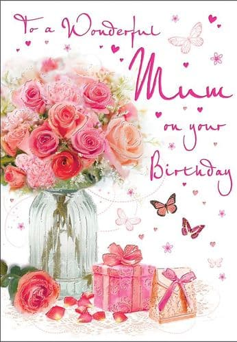To A Wonderful Mum On Your Birthday Flowers