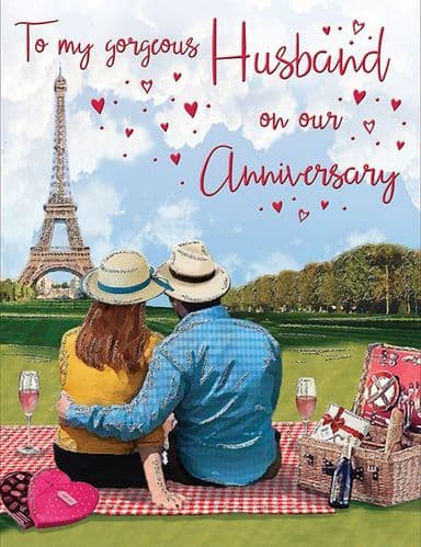 To My Gorgeous Husband On Our Anniversary Paris