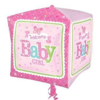 Welcome Baby Girl Butterfly Cubez