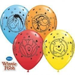 """WINNIE THE POOH CHARACTERS 11"""" YELLOW, RED, ORANGE & PALE BLUE (25CT)"""