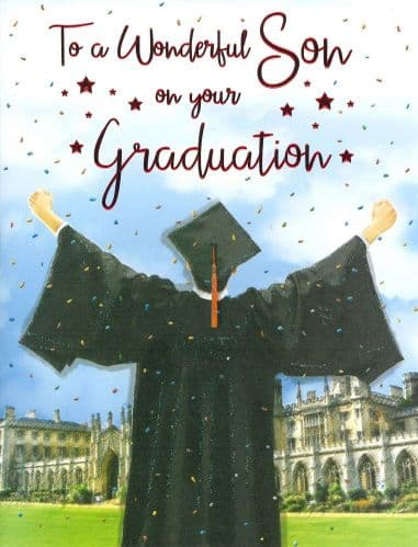 Wonderful Son Graduation Gown
