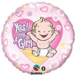 """YES! I'M A GIRL 18"""" PKT"""