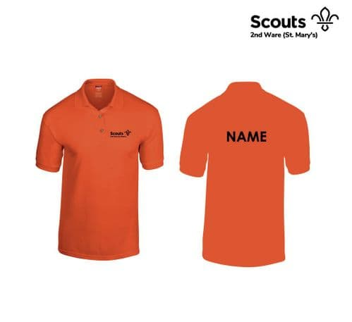 2nd Ware Scouts Orange Polo
