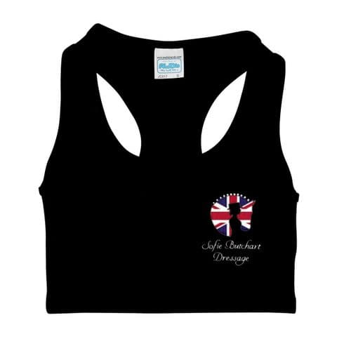 Black Sofie Butchart Dressage Crop Top