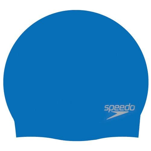 Speedo Moulded Silicone Cap (Adult) - Blue