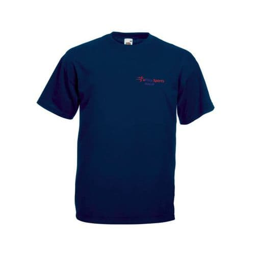 U Play Sports Tennis Navy Training T-Shirt Senior