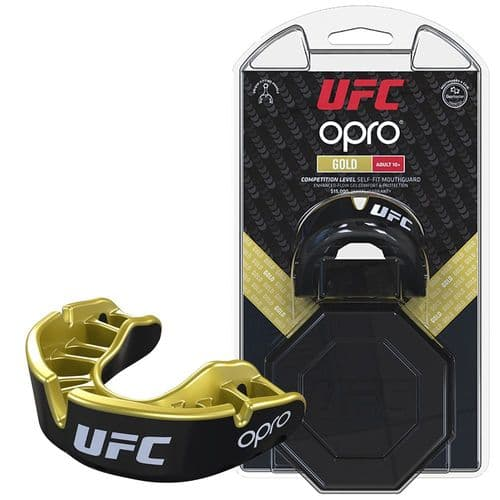 UFC Gold Mouthguard by Opro - Black/Gold