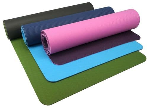 Urban Fitness 6mm TPE Yoga Mat - Green/Grey