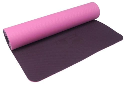 Urban Fitness 6mm TPE Yoga Mat - Purple/Pink