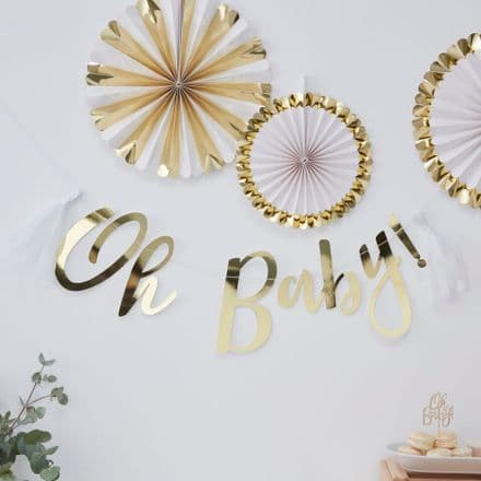 'Oh Baby' Baby Shower Party Bunting