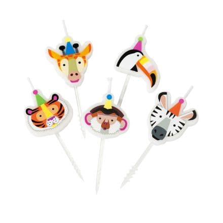 Animal Birthday Party Cake Candles