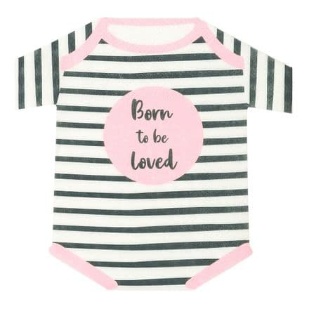Baby Shower, Born To Be Loved, Pink Paper Napkins