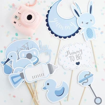 Baby Shower Photo Booth Props - Blue