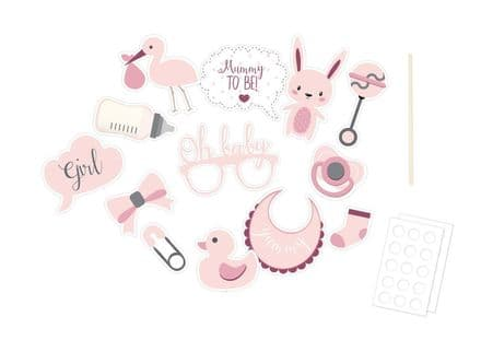 Baby Shower Photo Booth Props - Pink