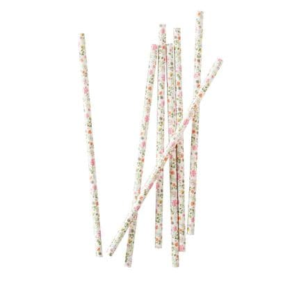 Ditsy Floral Paper Straws - pack of 25