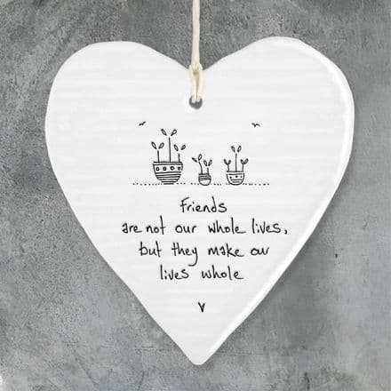 East of India Message Heart - Friends are not...