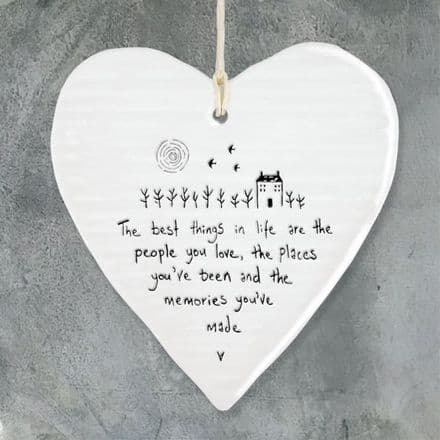 East of India Porcelain Heart, The best things in life are...