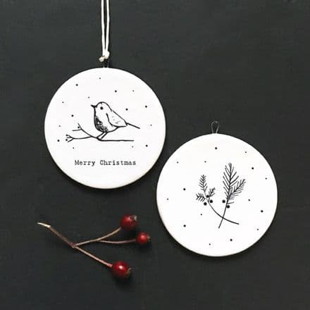 East of India Porcelain, Merry Christmas, Robin