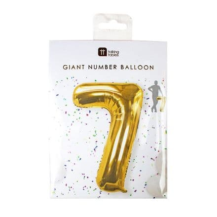Giant Gold Foil Number Balloon - 7