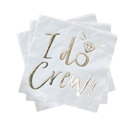 I Do Crew Hen Party Napkins