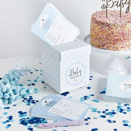 Oh Baby Prediction Cards & Post Box - Blue
