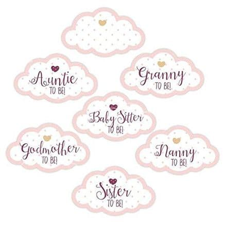 Pink Baby Shower Party Guest Stickers