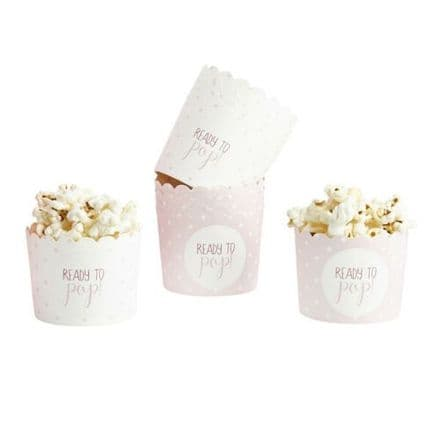 Pink Baby Shower Popcorn Cups