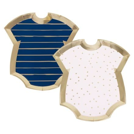 Pink, Blue & Gold Baby Grow Baby Shower / Gender Reveal Party Plates