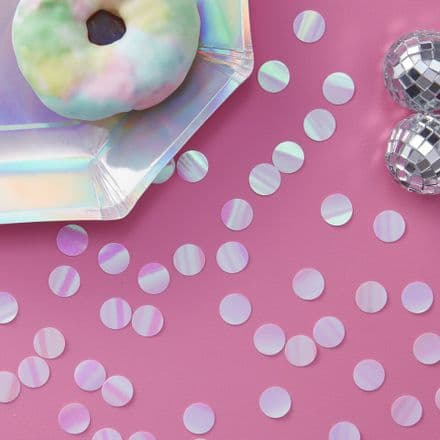 Pink Iridescent Table Confetti