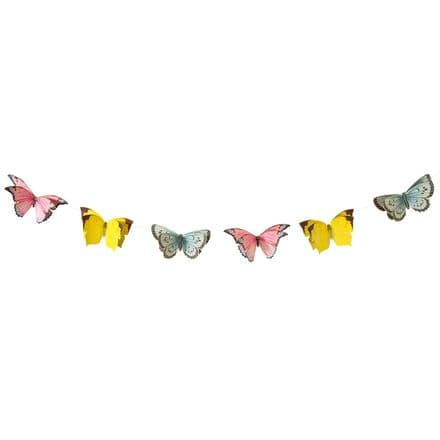 Truly Fairy Party Large Butterfly Bunting - 3m