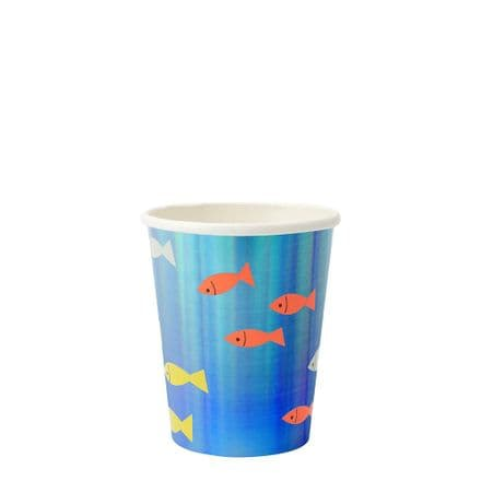 Under The Sea Party Cups - pack of 8